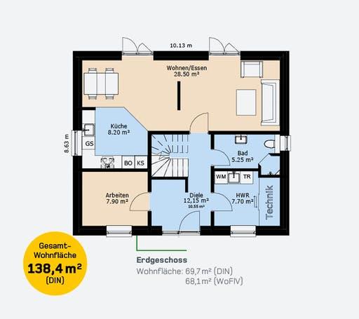 Hauscompagnie Stadtvilla 138 Floorplan 1