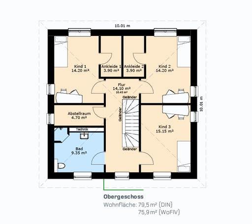 Hauscompagnie Stadtvilla 161 Floorplan 2