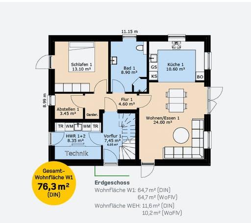Hauscompagnie ZFH 160 Floorplan 1