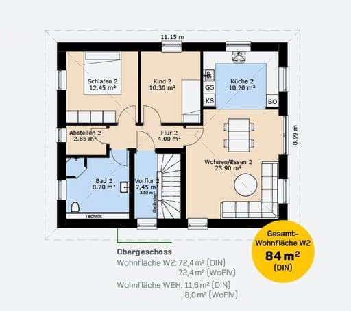 Hauscompagnie ZFH 160 Floorplan 2