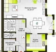 Hausidee 122 WD (inactive) Grundriss