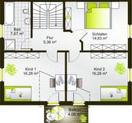 Hausidee 128 SD Grundriss