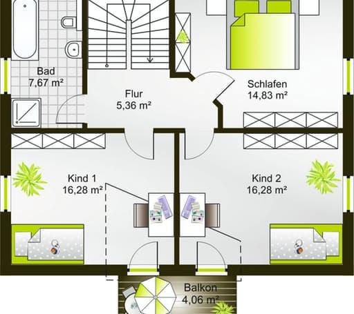 Hausidee 128 SD floor_plans 0