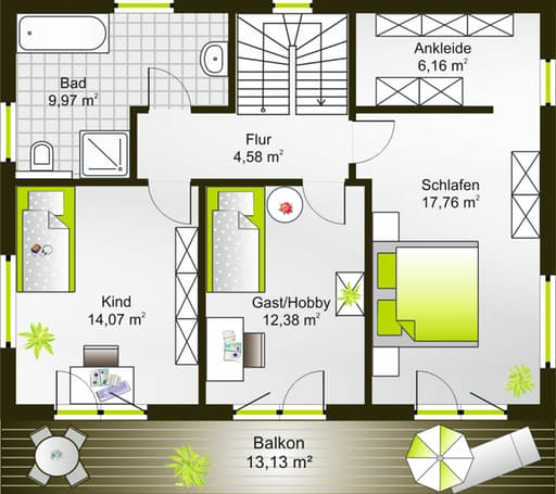 Hausidee 148 SD floor_plans 0