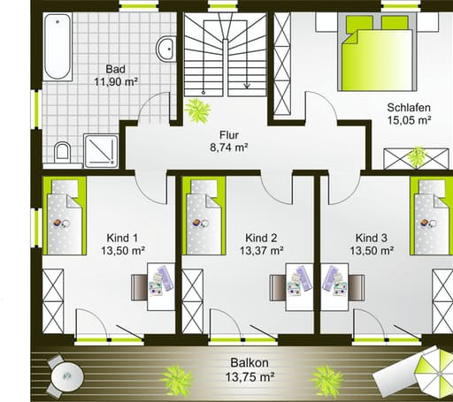 Hausidee 175 WD floor_plans 0
