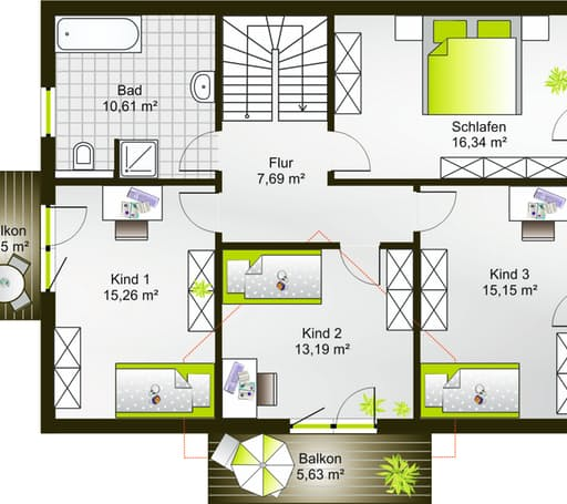 Hausidee 178 SD floor_plans 0