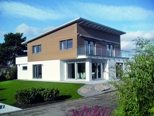 Pultdachhaus mit Garten