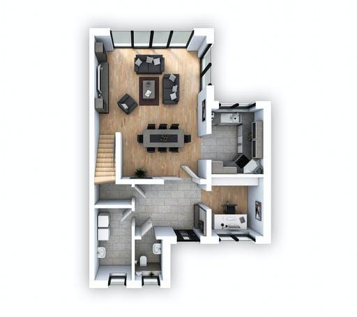 Hebel - DHH Bauhaus 130 Floorplan 1