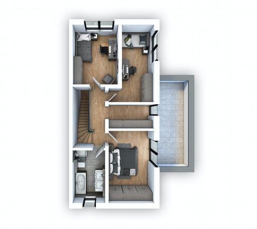 Hebel - DHH Bauhaus 130 Floorplan 2