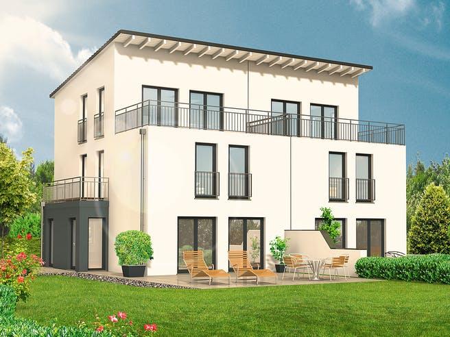 Doppelhaus Lifestyle 54.15 von hebelHAUS Außenansicht 1
