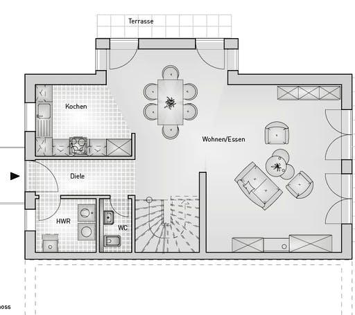 Hebel - Doppelhaus 54.15 Floorplan 1