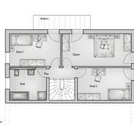 Doppelhaus Lifestyle 54.15 Grundriss