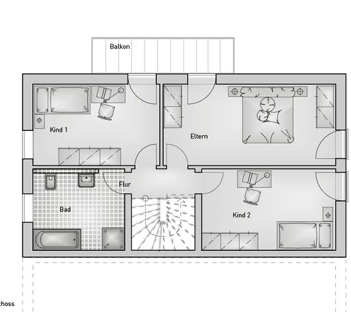 Hebel - Doppelhaus 54.15 Floorplan 2