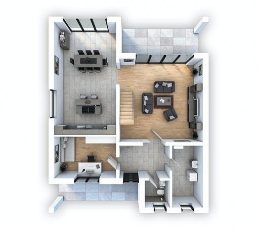 Hebel - EFH Bauhaus 193 Floorplan 1