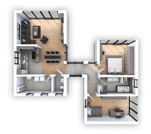 Hebel - EFH Bungalow 105 Floorplan 1
