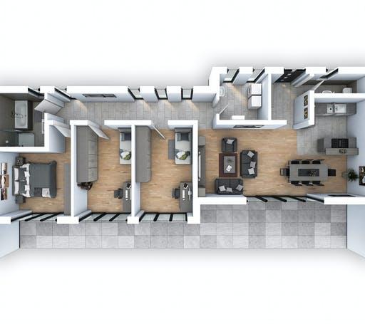 Hebel - EFH Bungalow 115 Floorplan 1