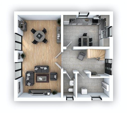 Hebel - EFH Klassik 121 Floorplan 1