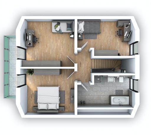 Hebel - EFH Klassik 121 Floorplan 2