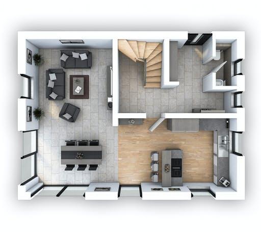 Hebel - EFH Klassik 123 Floorplan 1