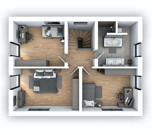 Hebel - EFH Klassik 123 Floorplan 2