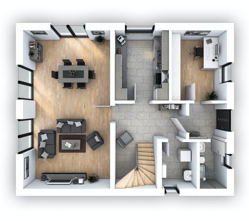 Hebel - EFH Klassik 128 Floorplan 1