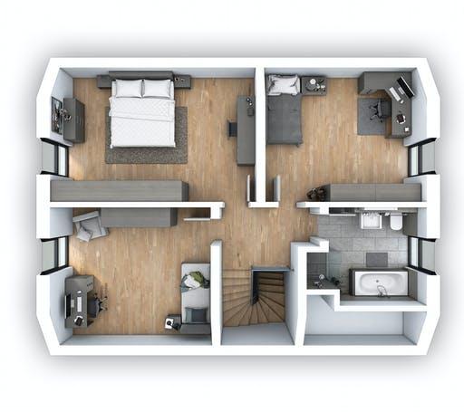 Hebel - EFH Klassik 128 Floorplan 2