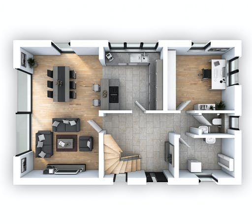 Hebel - EFH Klassik 135 Floorplan 1