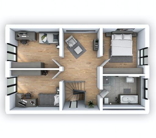 Hebel - EFH Klassik 135 Floorplan 2