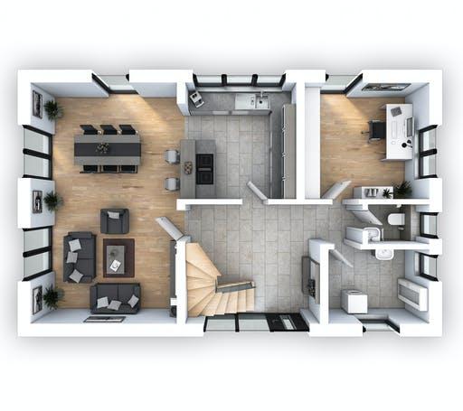 Hebel - EFH Klassik 138 Floorplan 1