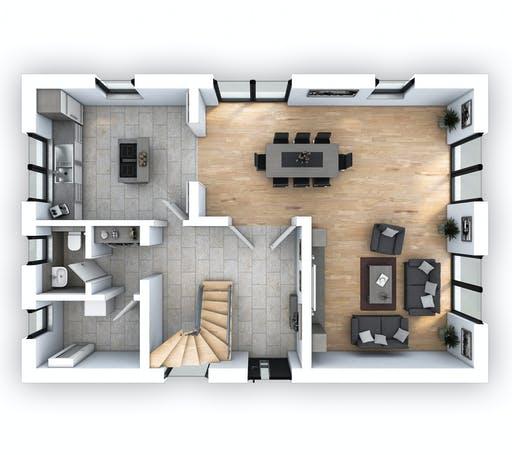Hebel - EFH Klassik 140 Floorplan 1