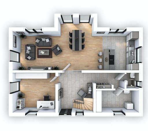 Hebel - EFH Klassik 148 Floorplan 1