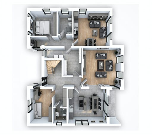 Hebel - EFH PLUS Bauhaus 178 Floorplan 1