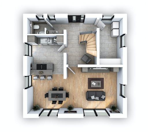 Hebel - EFH Stadtvilla 124 Floorplan 1