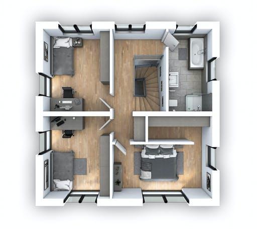 Hebel - EFH Stadtvilla 124 Floorplan 2