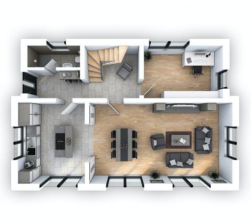 Hebel - EFH Stadtvilla 141 Floorplan 1