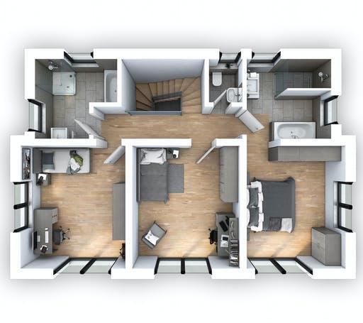 Hebel - EFH Stadtvilla 141 Floorplan 2