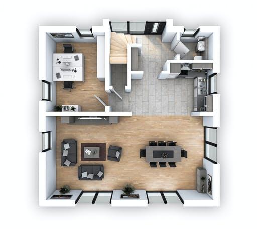 Hebel - EFH Stadtvilla 153 Floorplan 1
