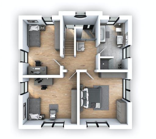 Hebel - EFH Stadtvilla 153 Floorplan 2