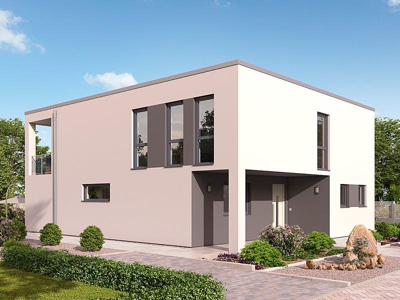 Modernes Kubushaus von hebelHAUS