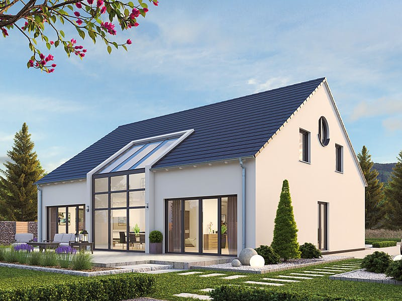 Modernes Satteldachhaus von hebelHAUS