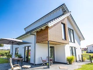 Versetztes Pultdach in Wellingholzhausen von Hausbau Heggemann Außenansicht 1