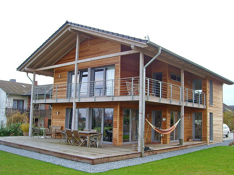 Satteldachhaus aus Holz von Hausbau Heggemann