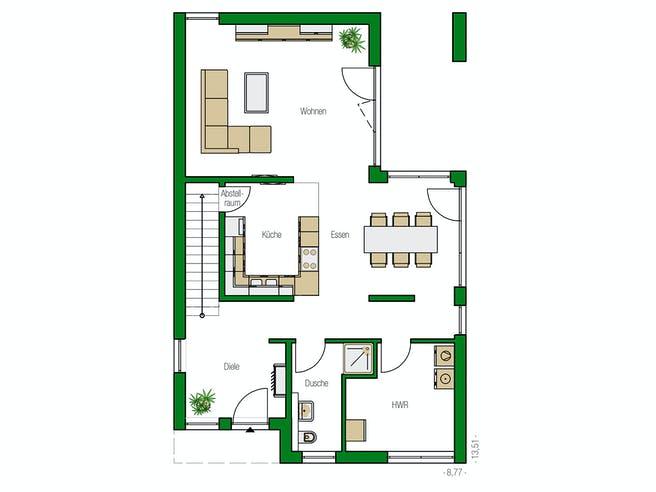 Alicante von HELMA Eigenheimbau AG Grundriss 1