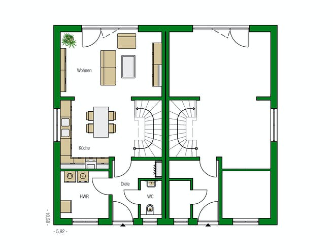 Bristol von HELMA Eigenheimbau AG Grundriss 1