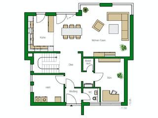 Brüssel von HELMA Eigenheimbau Grundriss 1