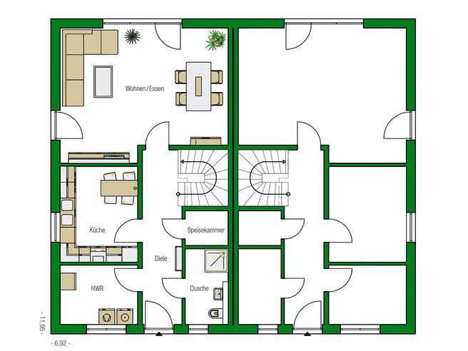 Dublin von HELMA Eigenheimbau AG Grundriss 1
