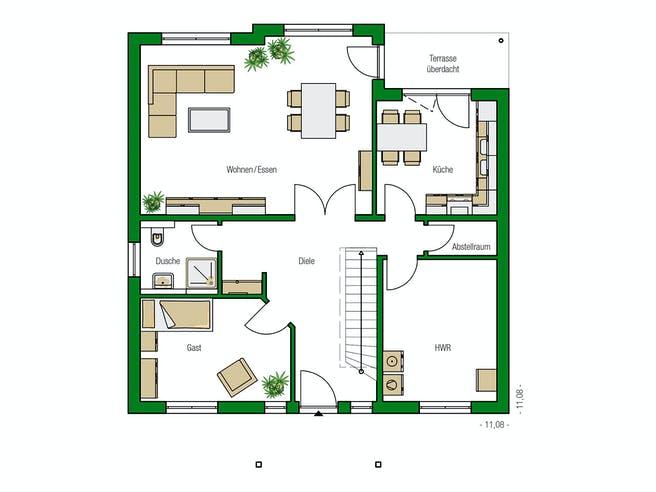 Florenz von HELMA Eigenheimbau AG Grundriss 1