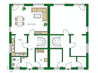 Glasgow von HELMA Eigenheimbau Grundriss 1