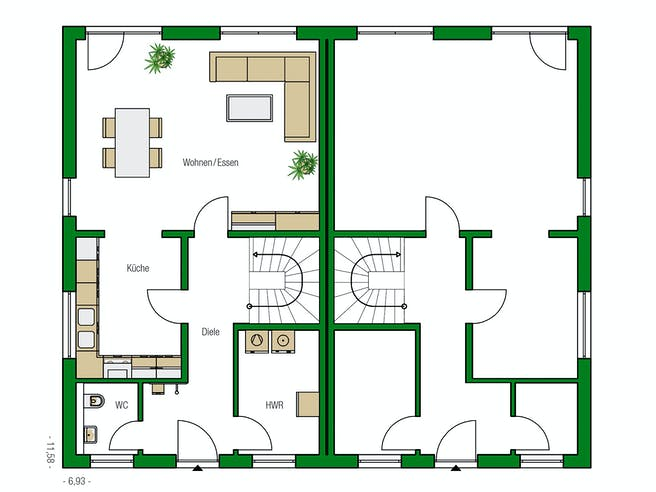 Glasgow von HELMA Eigenheimbau AG Grundriss 1