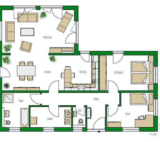 Helma - Kopenhagen Floorplan 1